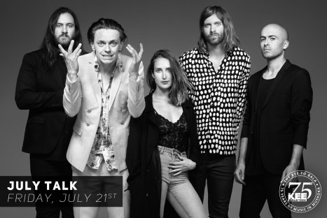 JULY TALK – Friday, July 21st