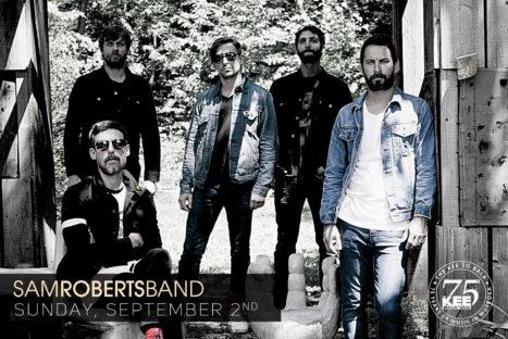 Sam Roberts Band – Sunday, September 2nd